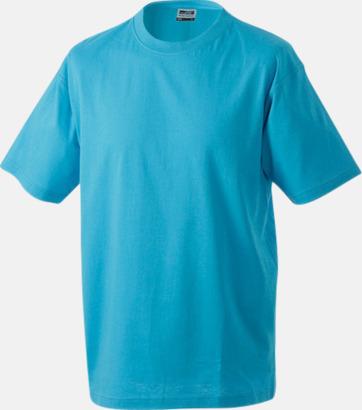 Turkos Barn t-shirtar av kvalitetsbomull med eget tryck