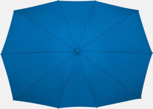 Blå (PMS 293C) Tvillingparaply med eget tryck