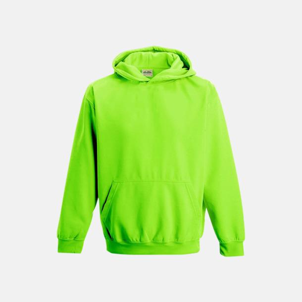 Electric Green Huvtröjor för barn i neonfärger med reklamtryck
