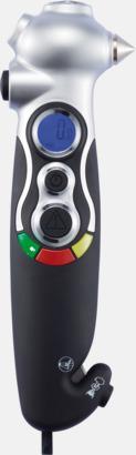 Däcktrycksmätare, nödhammare, bilbältesskärare och ficklampa - med tryck