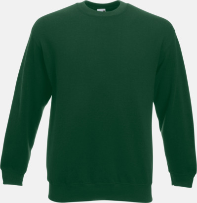 Bottle Green Klassisk sweatshirt med reklamtryck