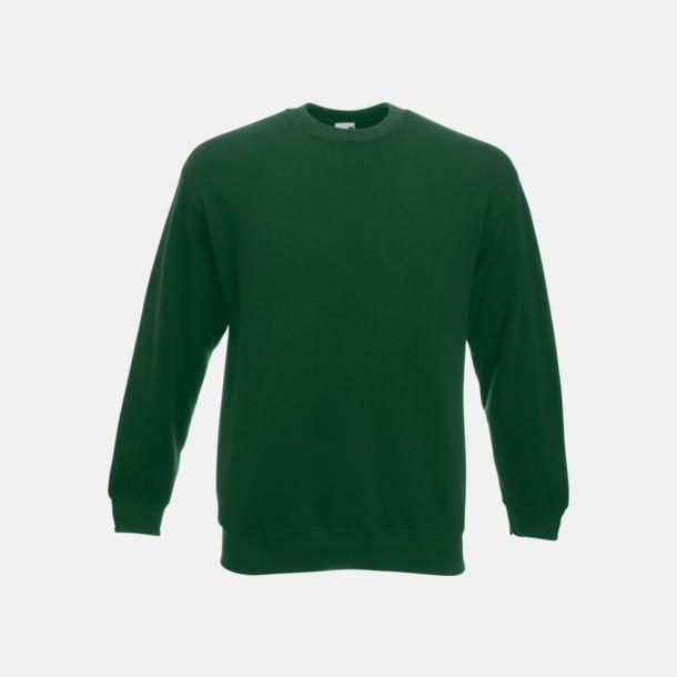 Bottle Green Klassisk sweatshirt med reklamtryck
