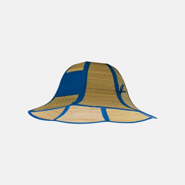 Blå Vikbara strandhattar med reklamtryck