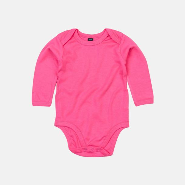 Fuchsia (lång) Ekologiska bodysuits med korta eller långa ärmar - med reklamtryck