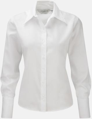 Vit (långärmad) Strykfri damskjorta