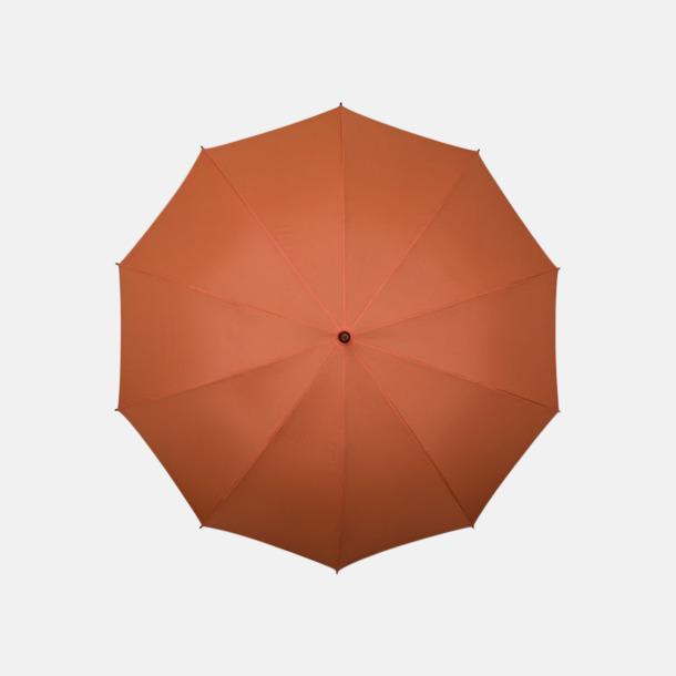 Orange (PMS 172C)  Stora golfparaplyer med eget reklamtryck