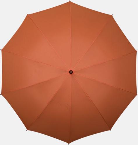 Orange (PMS 172C)  Stora golfparaplyer med eget tryck