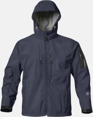 Marinblå Riktigt fina soft shell jackor med reklamtryck