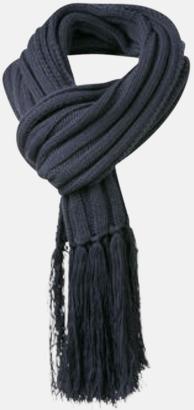 Marinblå Halsdukar med egen logga