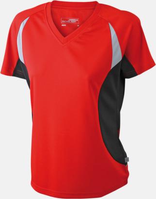 Röd/Svart/Reflex Flerfärgade funktionströjor med eget tryck