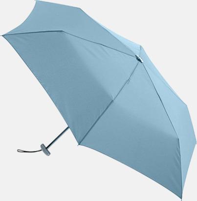 Ljusblå Super slim kompaktparaplyer med tryck