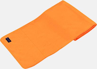 Orange Högkvalitativa fleecehalsdukar med egen brodyr
