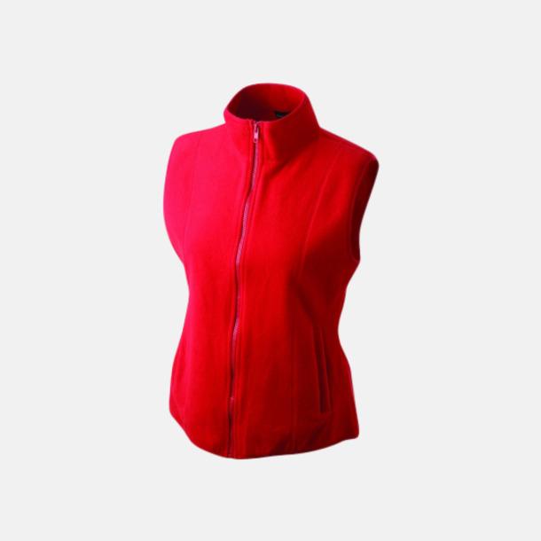 Röd Figursydd fleeceväst med egen brodyr