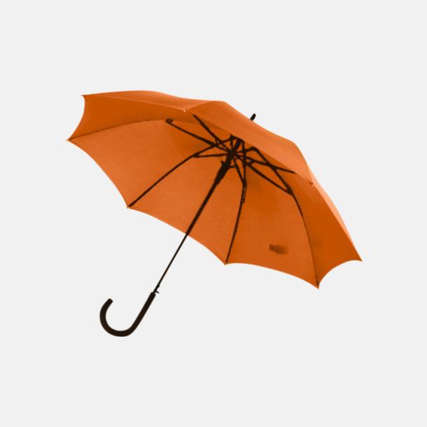 Orange Stormsäkra, automatiska paraplyer med tryck