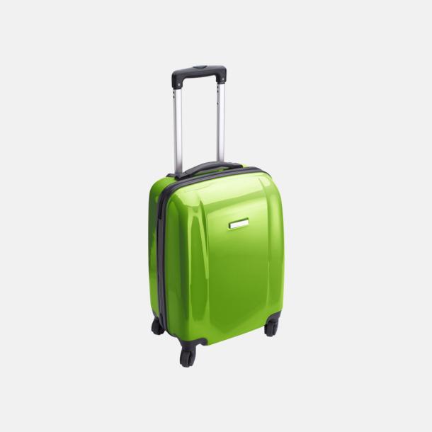 Ljusgrön 4-hjuls trolley med reklamtryck