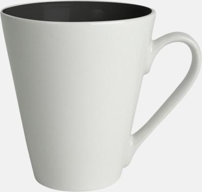 Svart / Vit Kaffemuggar med färgad insida