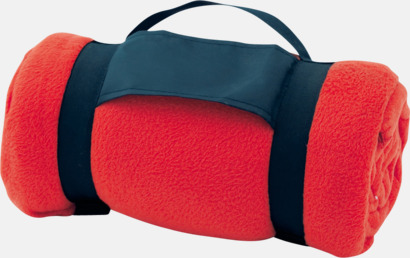Röd Billiga fleecefiltar med tryck