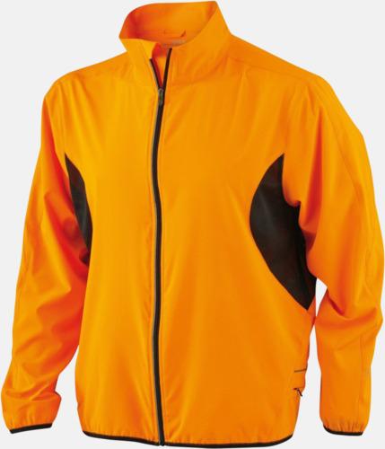 Fluorescerande Orange/Svart Lightweight löparjackor med eget tryck