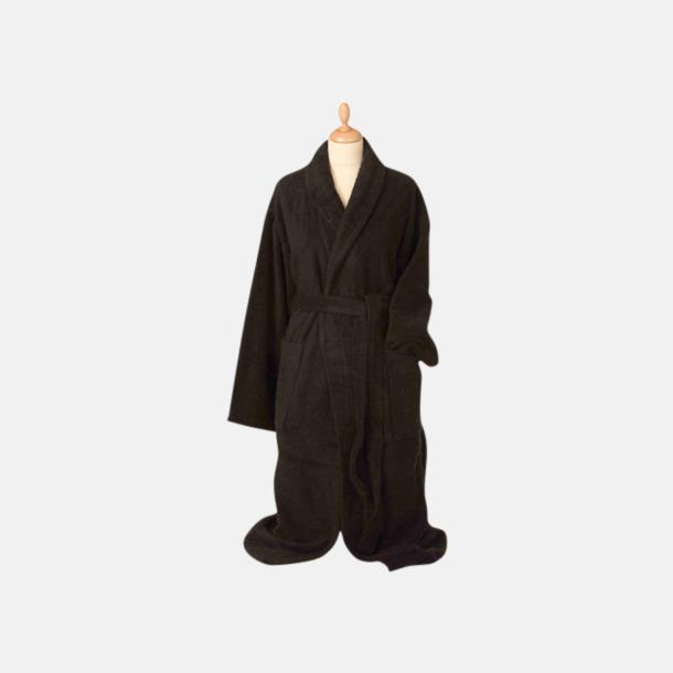 Svart (mörk) Färgglada badrockar med reklambrodyr