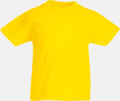 Yellow T-shirt barn - Valueweigth barn t-shirt