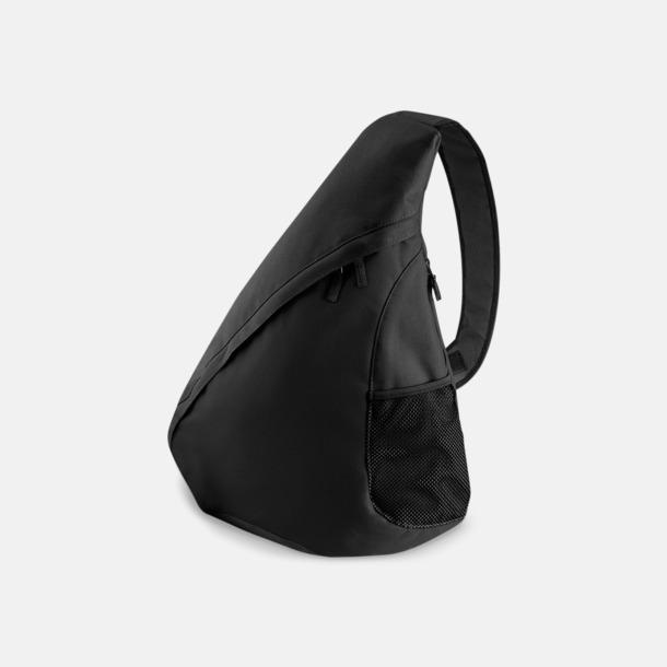 Svart Ryggsäck med en axelrem