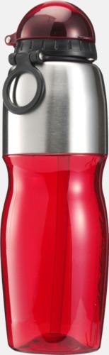 Röd / Silver Multipraktiska vattenflaskor med tryck