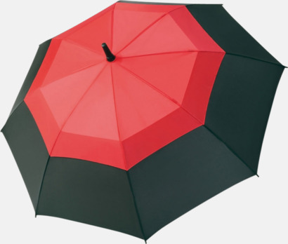 Röd / Svart Paraplyer med eget tryck