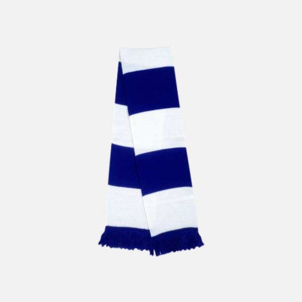 Royalblå/Vit Halsdukar i olika lagfärger med egen brodyr
