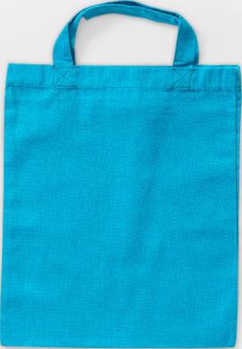 Ljusblå Liten bomullskasse med korta handtag