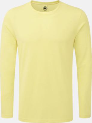 Yellow Marl (herr) Färgstarka långärms t-shirts i herr-, dam och barnmodell
