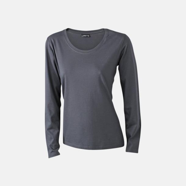 Graphite (dam) Långärmade t-shirts i herr-, dam- & barnmodell med reklamtryck
