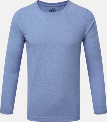 Blue Marl (pojke) Färgstarka långärms t-shirts i herr-, dam och barnmodell