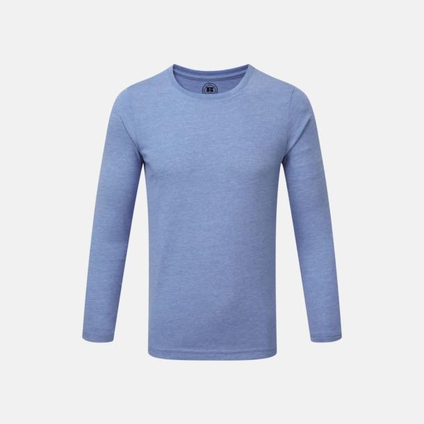 Blue Marl (barn) Färgstarka långärms t-shirts i herr-, dam och barnmodell