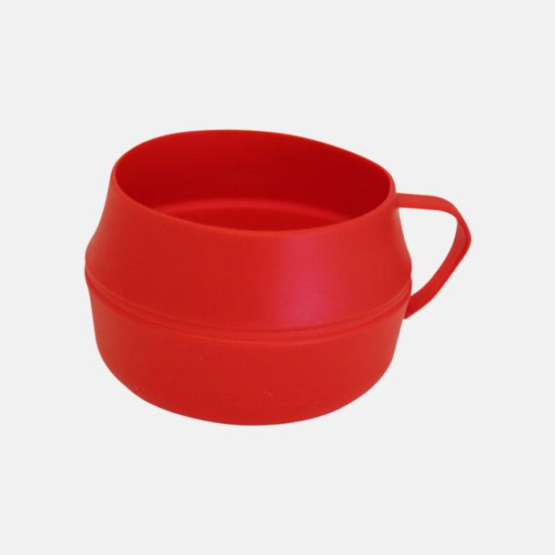 Röd Vikbar kåsa med eget reklamtryck