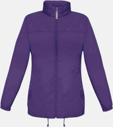 Lila (dam) Vind- och vattentäta jackor för dam, herr och barn - med tryck
