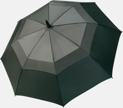 Grå / Svart Paraplyer med eget tryck
