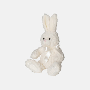 Kanin med rosett - med reklamtryck