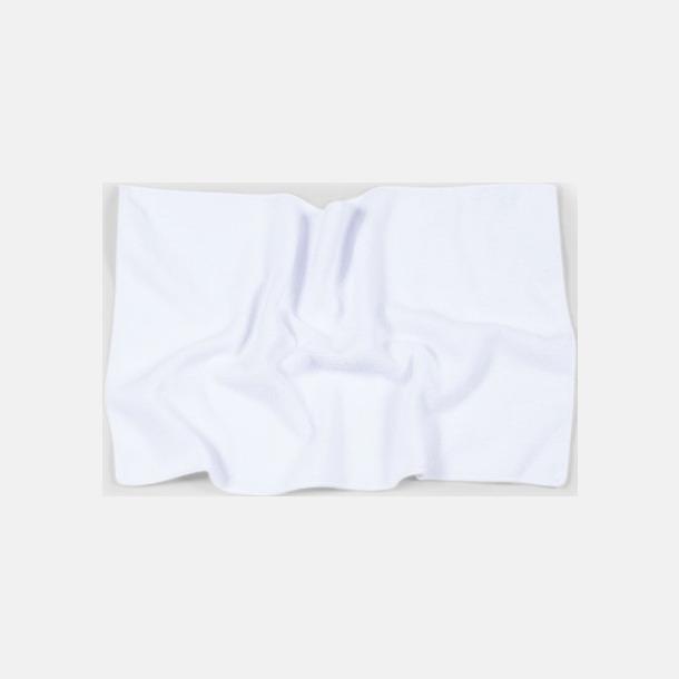 Vit (30 x 50 cm) Microfiber handdukar i 3 storlekar med reklambrodyr