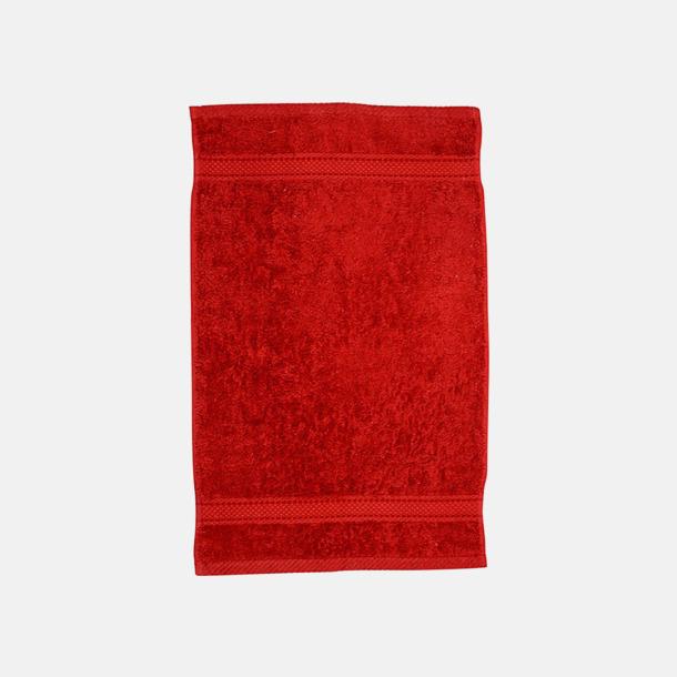 Röd Kvalitetshandduk med egen brodyr