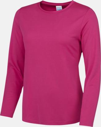 Hot Pink (endast dam) Unisex tränings t-shirts med långa ärmar - med reklamtryck