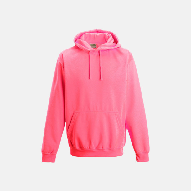 Electric Pink Huvtröjor i neonfärger med reklamtryck