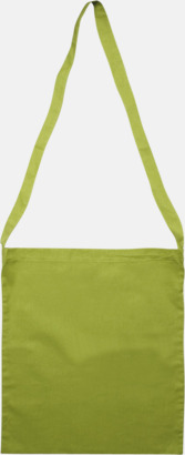 Burnt Lime Färgglada bomullskassar med reklamtryck i slingmodell