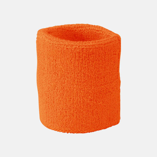 Orange Armsvettband med brodyr