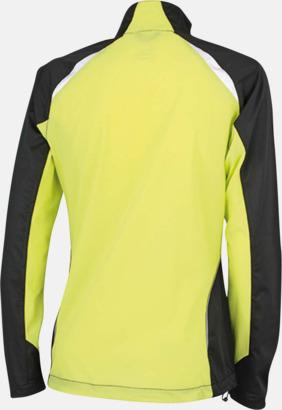 Svart/Acid Yellow (rygg) Vindtäta jackor med eget tryck