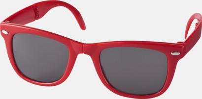 Röd (PMS 186C) Solglasögon med vikbar ram - med tryck
