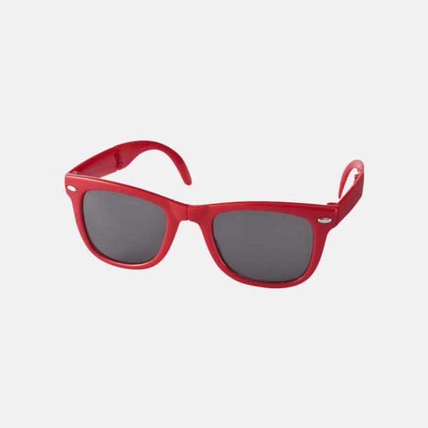 Röd (PMS 186C) Solglasögon med vikbar ram - med reklamtryck