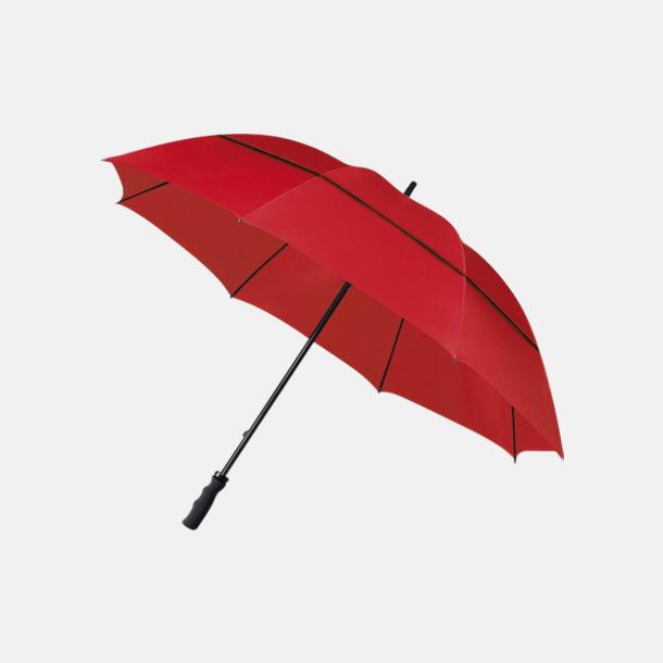 Röd (PMS 1797C)  Stormsäkra paraplyer med eget reklamtryck