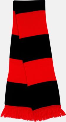Röd/svart Halsdukar i olika lagfärger med egen brodyr