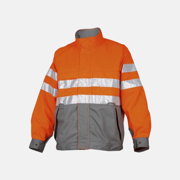 Orange / Grå Arbetsjacka Klass 3