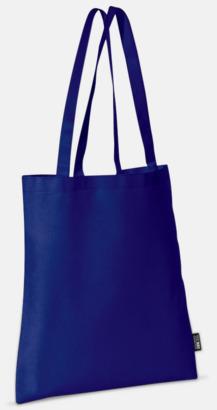 Mörkblå (långa handtag) Billiga kassar med korta eller långa handtag - med reklamtryck